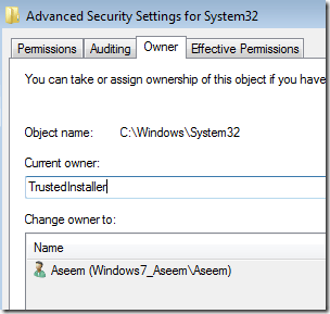 trustedinstaller windows 7