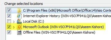 outlook deindexed